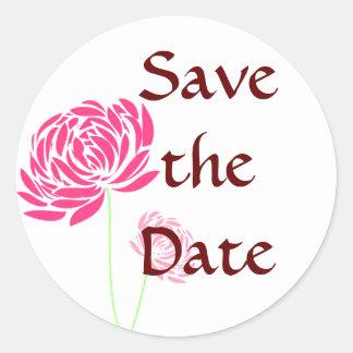 Customizable Save the Date Round Sticker