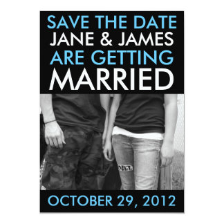Customizable Save The Dates (Hip Sky Blue) Personalized Invite