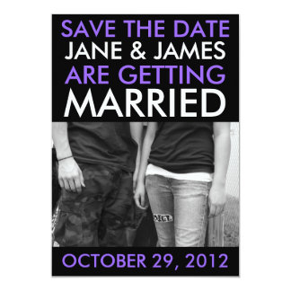 Customizable Save The Dates (Hip Violet Purple) Card