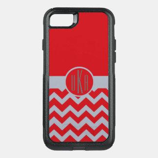 Customizable ScarletandGray Monogram OtterBox Commuter iPhone 7 Case