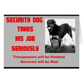 Customizable Security Dog Card