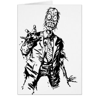 Customizable Shambling Zombie Greeting Cards