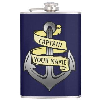 Customizable Ship Captain Your Name Anchor 2 Hip Flask