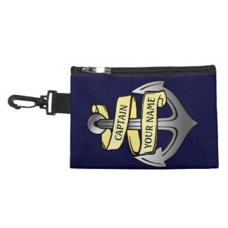 Customizable Ship Captain Your Name Anchor Accessories Bag