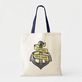 Customizable Ship Captain Your Name Anchor Bag