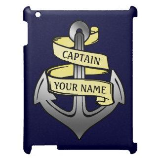 Customizable Ship Captain Your Name Anchor iPad Case