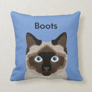 Customizable Siamese Cat Pillow - Cute Cat Pillow
