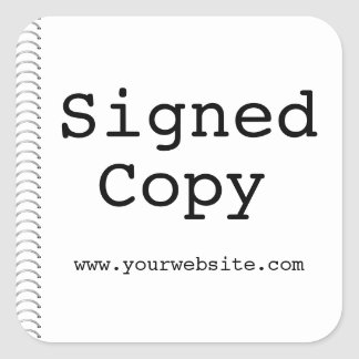 Customizable Signed Copy Author Stickers for Books