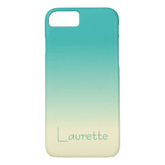 Customizable Simple Aqua and Cream Gradient Ombre iPhone 8/7 Case