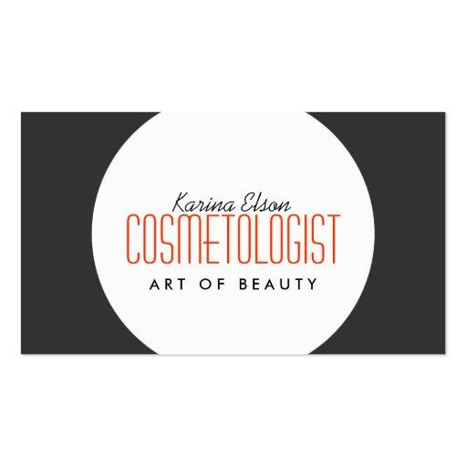 Customizable Simple Ball Cosmetologist Grey Card Business Card Templates