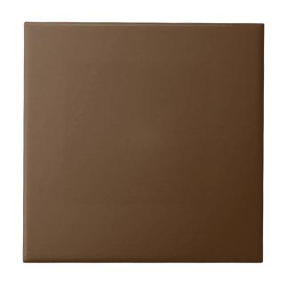Customizable Simple Mid Brown 2 Tile