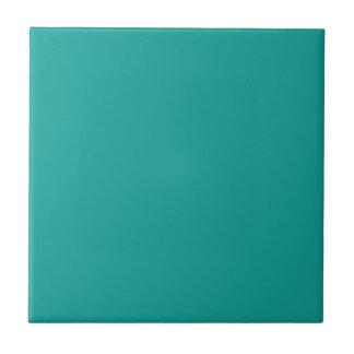 Customizable Simple Mid Tone Blue Green Tile