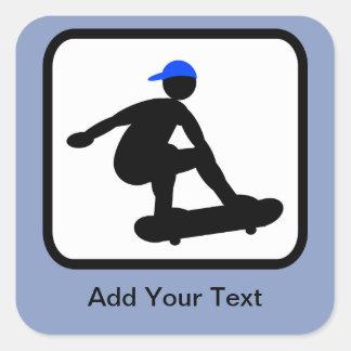 Customizable Skater on Skateboard Logo Sticker