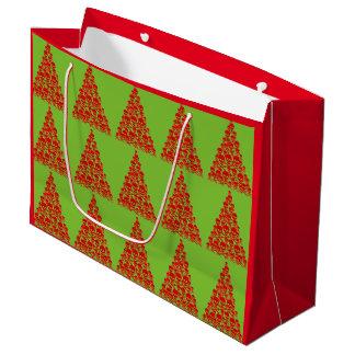 Customizable Skull Christmas Trees Large Gift Bag