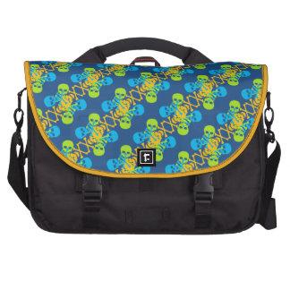 Customizable Skulls & Crossbones Laptop Messenger Bag
