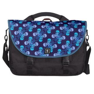 Customizable Skulls & Crossbones Laptop Commuter Bag