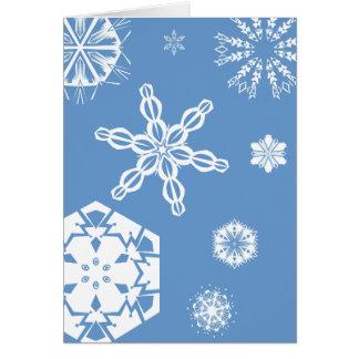Customizable Snowflake Greeting Card