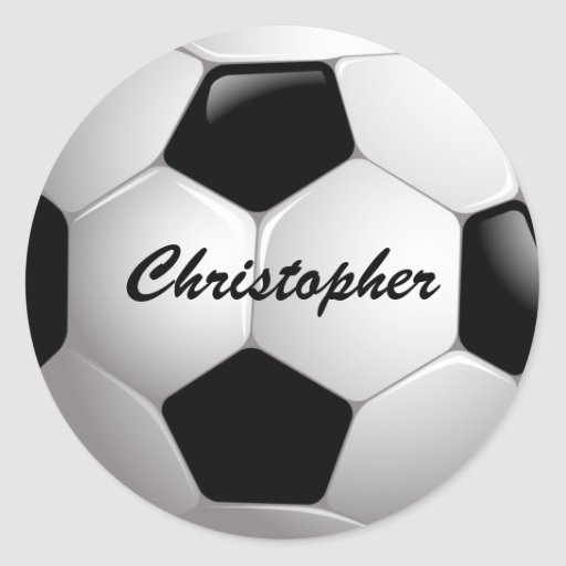 Customizable Soccer Ball Stickers