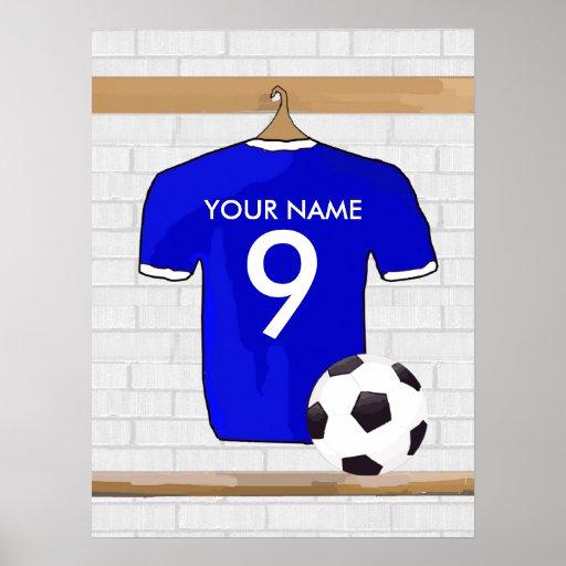 Customizable Soccer Shirt (blue) Poster