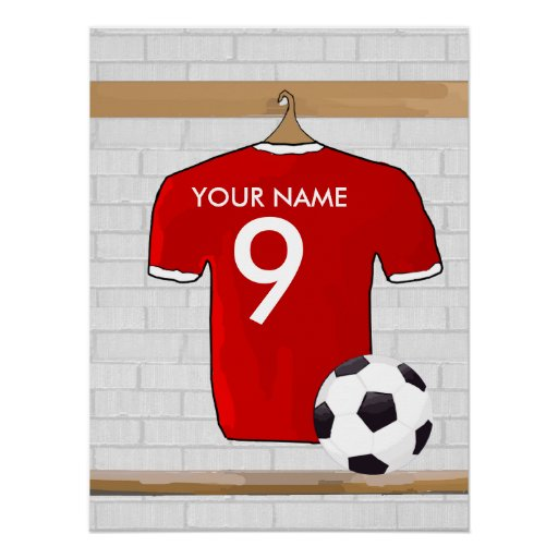 Customizable Soccer Shirt (red) Poster
