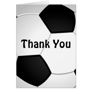 Customizable Soccer Thank You Cards Bulk or Buy 1