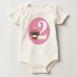 Customizable Sock Monkey Girl Birthday shirt