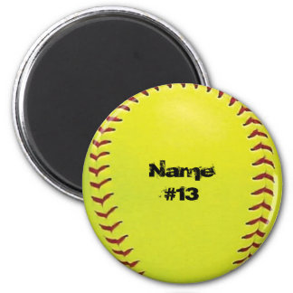Customizable Softball Magnet
