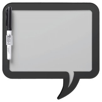 Customizable Speech Bubble Message Board (Black) Dry-Erase Whiteboards