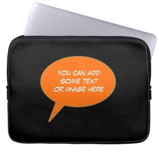 customizable speech cartoon bubble laptop sleeve