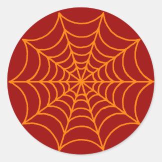 Customizable Spider Web Round Stickers