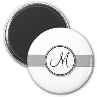 Customizable Split Monogram Seal Template 6 Cm Round Magnet