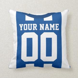 Customizable Sports Jersey Template Pillow, Soccer Cushion