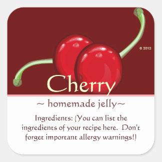 Customizable Square Cherry Stickers