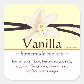 Customizable Square Vanilla Stickers