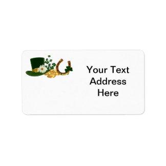 CUSTOMIZABLE St. Patrick's Day Design Address Label