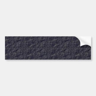 Customizable Steel Blue Crinkle Look Bumper Sticker