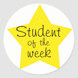 Customizable Student Of The Week Classic Round Sticker