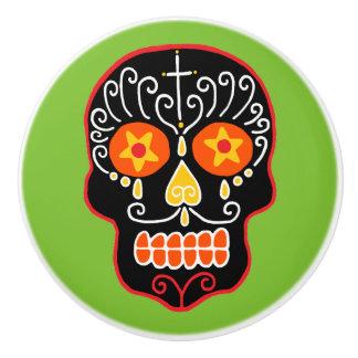 Customizable Sugar Skull Ceramic Knob