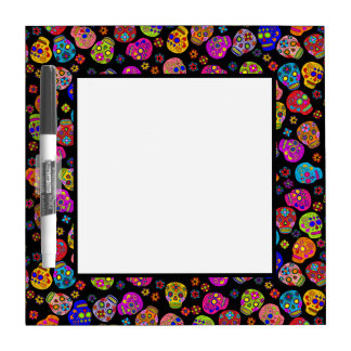 Customizable Sugar Skulls Dry Erase Board