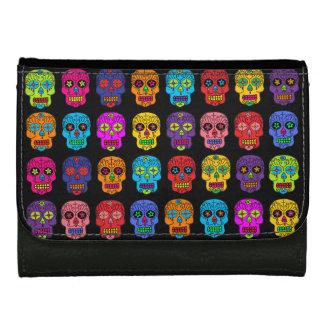 Customizable Sugar Skulls Wallets For Women