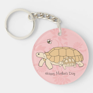 Customizable Sulcata Mother's Day Keychain 2