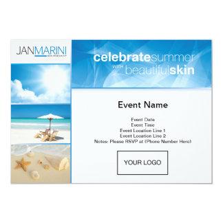 "Customizable Summer Open House Invitations 5"" X 7"" Invitation Card"