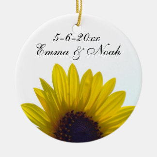 Customizable Sunflower Wedding Ornament