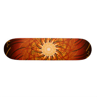 Customizable Sunset (Psychedelic spirograph) Skateboard Decks