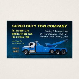 CUSTOMIZABLE Super Duty Towing BC Business Card