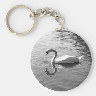 Customizable Swan Reflection Keychain