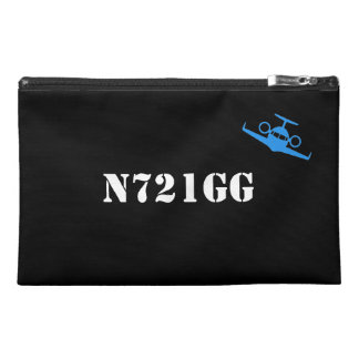 Customizable Tail Number Travel Accessory Bag