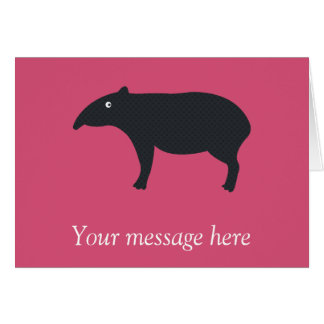 Customizable Tapir Card