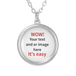 Customizable Template Make Your Own Silver Plated Necklace