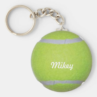 Customizable Tennis Ball Key Ring